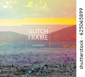 glitched style design template... | Shutterstock .eps vector #625065899