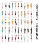 50 characters collection set | Shutterstock .eps vector #625068200