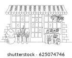 Flower Shop Graphic Black White ...