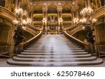 Small photo of PARIS, FRANCE, MARCH 14, 2017 : interiors, frescoes and architectural details of the palais Garnier, Opera of Paris, march 14, 2017 in Paris, France.