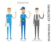 characters set   character set... | Shutterstock .eps vector #625078490