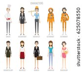 characters colection set | Shutterstock .eps vector #625078550