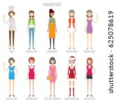 characters colection set | Shutterstock .eps vector #625078619