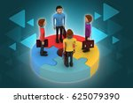 3d illustration of people... | Shutterstock . vector #625079390