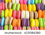 colorful french macarons... | Shutterstock . vector #625086380