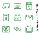 set of 9 appointment outline... | Shutterstock .eps vector #625086548