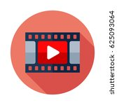 video icon. flat vector icon... | Shutterstock .eps vector #625093064