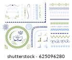 big set of decorative elements. ... | Shutterstock .eps vector #625096280
