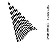 checkered flag. racing flag... | Shutterstock .eps vector #625099253