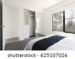 mirrored wardrobe detail in a... | Shutterstock . vector #625107026