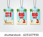 end of season sale tag design... | Shutterstock .eps vector #625107950