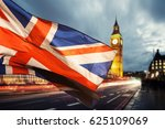 union jack flag and iconic big... | Shutterstock . vector #625109069