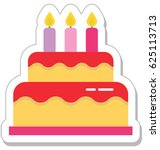 cake vector icon | Shutterstock .eps vector #625113713