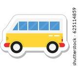 bus vector icon | Shutterstock .eps vector #625114859
