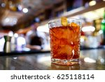 negroni at the bar | Shutterstock . vector #625118114