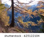 autumn at the tour chamonix in... | Shutterstock . vector #625122104