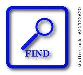 find icon. find website button...   Shutterstock . vector #625122620