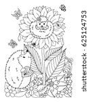 vector illustration zentangl... | Shutterstock .eps vector #625124753