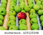 delicious green apples and one...   Shutterstock . vector #625125248