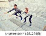 fitness  sport  people ... | Shutterstock . vector #625129658