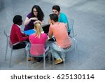multiracial group of young... | Shutterstock . vector #625130114