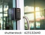 door access control keypad with ... | Shutterstock . vector #625132640