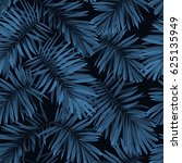 indigo seamless pattern with... | Shutterstock . vector #625135949