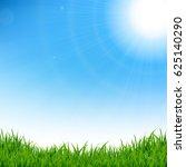 green grass border | Shutterstock . vector #625140290