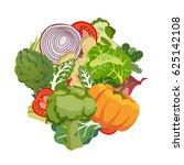 vegetarian diet healthy food...   Shutterstock .eps vector #625142108
