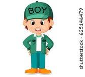 cute boy cartoon good posing | Shutterstock . vector #625146479