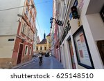 typical street in the... | Shutterstock . vector #625148510