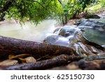 hot spring waterfall at krabi | Shutterstock . vector #625150730