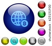 online bitcoin payment icons on ... | Shutterstock .eps vector #625151930