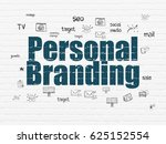 advertising concept  painted... | Shutterstock . vector #625152554
