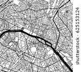paris france vector map... | Shutterstock .eps vector #625153124