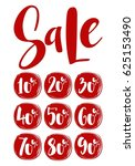vector collection of big sale ... | Shutterstock .eps vector #625153490