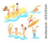 people on summer vacation at... | Shutterstock .eps vector #625155164