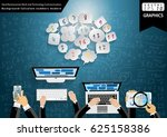 hand businessman work and... | Shutterstock .eps vector #625158386