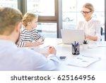 businesswoman working with... | Shutterstock . vector #625164956