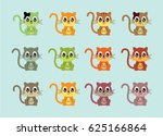 cute cat vector | Shutterstock .eps vector #625166864