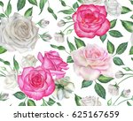 seamless floral pattern with... | Shutterstock . vector #625167659