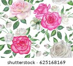 seamless floral pattern with... | Shutterstock . vector #625168169