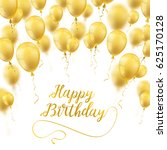 golden balloons with white... | Shutterstock .eps vector #625170128