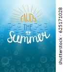 summer underwater poster. enjoy ... | Shutterstock .eps vector #625171028