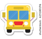 bus vector icon | Shutterstock .eps vector #625180196