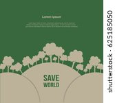 save the world background | Shutterstock .eps vector #625185050