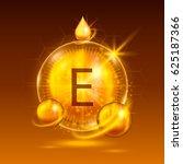 vitamins e chemical formula ... | Shutterstock .eps vector #625187366