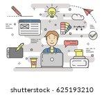 design concept illustration... | Shutterstock . vector #625193210