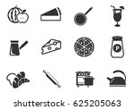 food and kitchen web icons for...   Shutterstock .eps vector #625205063