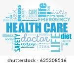 healthcare word cloud collage ...   Shutterstock .eps vector #625208516
